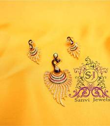 Buy Elegant Peacock Diamond Pendant Set  Pendant online
