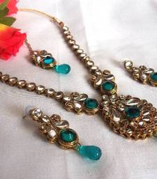 Buy Blue Drop  Kundan Necklace Set necklace-set online