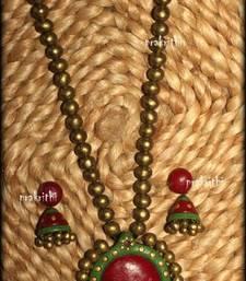 Buy terracotta jewellery necklace-set online