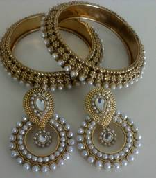 Buy Designer Traditional Earings with Traditional Kadas bangles-and-bracelet online