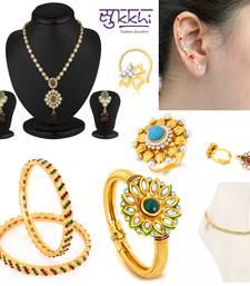 Buy Sukkhi Glittery 8 Piece Fashion Jewellery Combo(190CB8000) jewellery-combo online