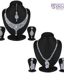 Buy Sukkhi Attractive 2 Piece Necklace Set Combo(204CB3150) jewellery-combo online