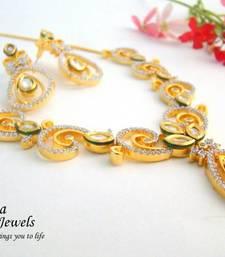 Buy Kundan AD Fusion Necklace Set necklace-set online