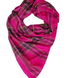 Buy HOT PINK CHECK STOLE BY ELABORE stole-and-dupatta online