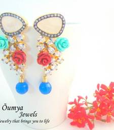 Buy Floral CZ Cocktail Fashion Earrings stud online
