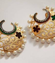Buy Half Hoop Embellished Filigree Earrings - Multi danglers-drop online