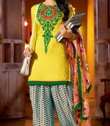 Buy Kick With Yellow Coloured Salwar Suit salwars-and-churidar online