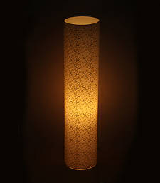 Buy Round Textured White Cylinder Lamp table-lamp online