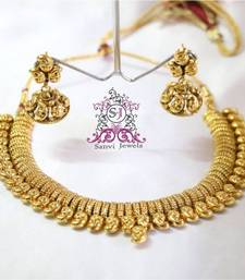 Buy BEAUTIFUL GOLD LOOK NECKLACE SET necklace-set online