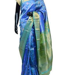 Buy Beautiful Bridal Royal Blue Latest Zari weaved Kanjeevaram Silk Saree - SR1170 silk-saree online