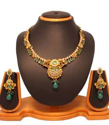 Buy Vendee Traditional Floral Necklace Set 8088   necklace-set online