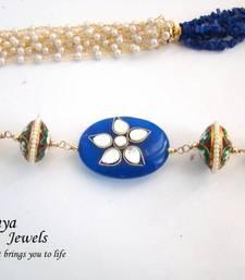 Buy Blue uncut multistrand Semiprecious Necklace Necklace online