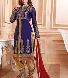 Buy New Arrival Designer NevyBlue Embroidered Salwar Kameez salwars-and-churidar online