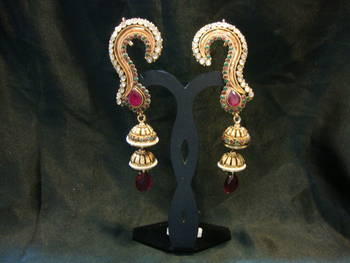 Design no. 1.513....Rs. 1500 full ear cover earrings.