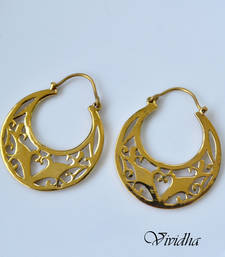 Buy Dainty Antique Gold Finish Earrings hoop online