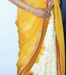 Buy Bollywood Style saree Replica sridevi manish malhotra yellow stylish sari sridevi-saree online
