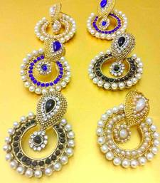 Buy Combination : Blue, Black & Pearl traditional ethnic indian traditional bollywood jewelry  danglers-drop online
