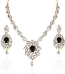 Buy Heena Contemporary collection Necklace setHJNL140BL Necklace online