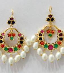 Buy ANTIQUE NAVRATAN CHAND BALI hoop online