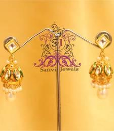 Buy Pearl & Kundan Elegant Jhumki  jhumka online