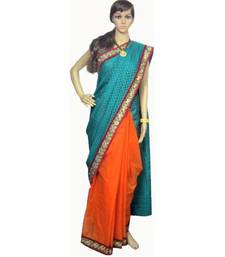 Buy Designer fancy chanderi and supernet saree chanderi-saree online