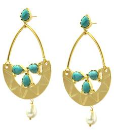 Buy Contemporary Gold & Pearl Earring danglers-drop online