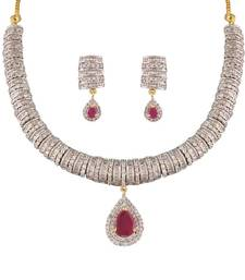 Buy Heena Classic collection Necklace set @ HJNL151R Necklace online