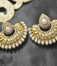 Buy Designer Pearl Earrings hoop online