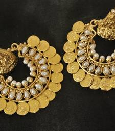 Buy Ram Leela Pearl Coin Earrings hoop online