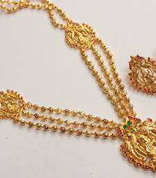 Buy BEAUTIFUL LAKSHMI GOLD DESIGN INSPIRED HAAR SET necklace-set online