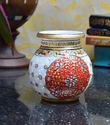 Buy Hand Painted Marble Kalash pot online