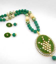 Buy Designer Crystal Pendant Necklace Design 18 necklace-set online