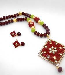 Buy Designer Crystal Pendant Necklace Design 26 necklace-set online