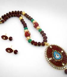Buy Designer Crystal Pendant Necklace Design 27 necklace-set online
