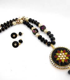 Buy Designer Crystal Pendant Necklace Design 10 necklace-set online