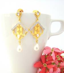 Buy Golden Kite Earrings with Pearl Drops stud online
