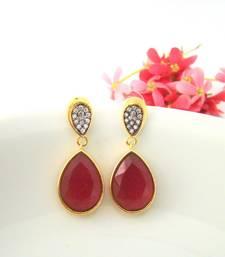 Buy Teardrop Rose Golden Earrings stud online