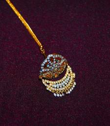 Buy Gold Plated Diamond Bor Maang Tikka maang-tikka online