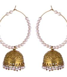 Buy Kshitij Diwali Collection White German Silver Jhumki earring For Women jhumka online
