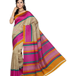 Beige Color Art Silk Saree with Blouse
