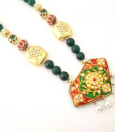 Buy Royal Green Meenakari Semiprecious Necklace Necklace online