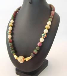 Buy Multishaded Semiprecious Mala Necklace online