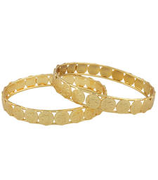 Buy Gold plated temple bangle bangles-and-bracelet online