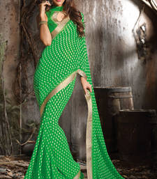 Buy Georgette printed sarees with border. georgette-saree online