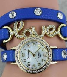 Buy Blue Wrap Around Charm Watch watch online
