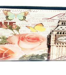 Buy tower and flower print wallet wallet online