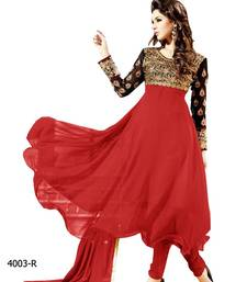Buy Latest New Arrival Designer Red Anarkali Suits party-wear-salwar-kameez online