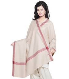 Buy Diamond Design Reversible Pink Warm Woolen Shawl shawl online
