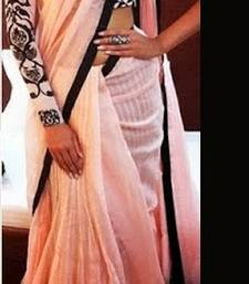 Buy Sonam Kapoor Bollywood Designer Pink And Black Saree sonam-kapoor-saree online