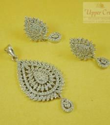 Buy CZ Pear Shape Pendent Earring Jewellery Pendant online